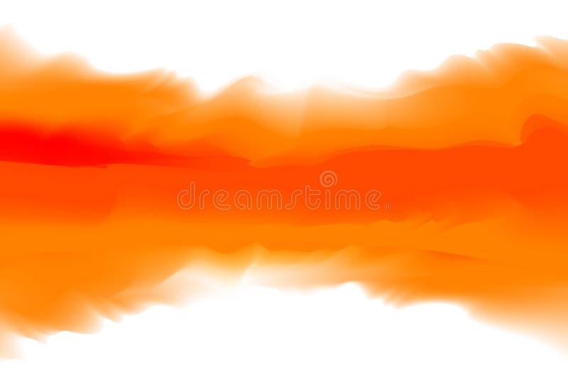 Pomarańczowi i czerwoni kolory miękcy w pojęcie wodnego koloru sztuki stylu, abstrakcjonistyczni tekstura kolory maluje sztuki sz royalty ilustracja