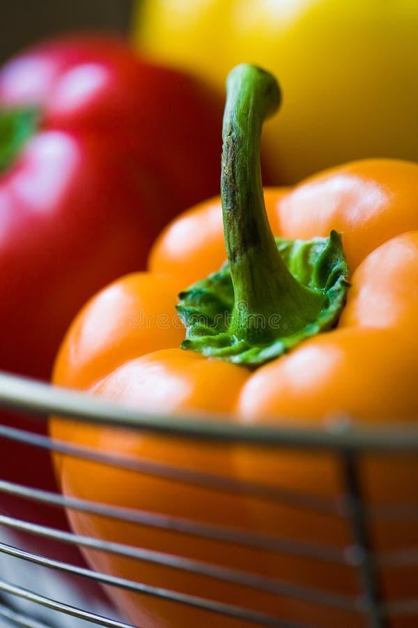 pomarańczowi pieprze zdjęcia stock