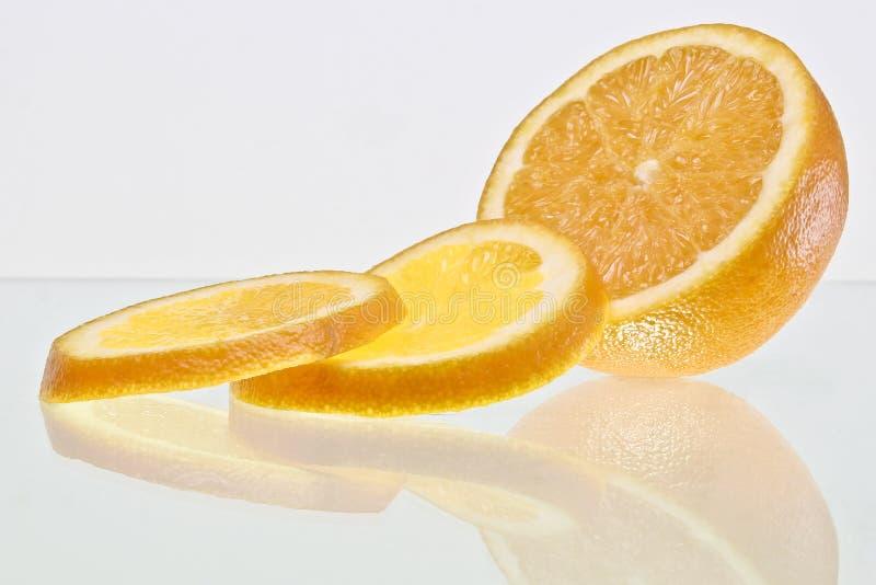 Pomarańczowi plasterki zdjęcie stock