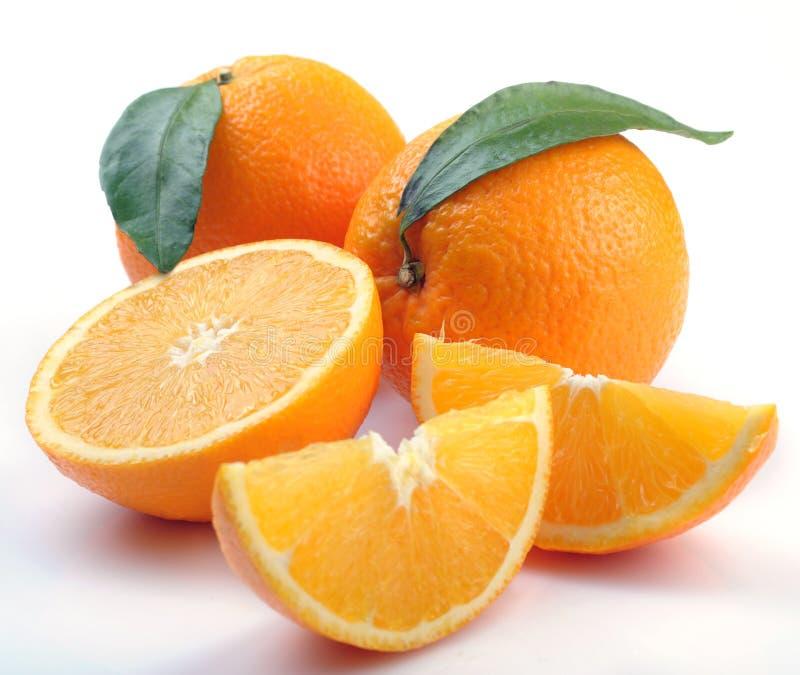 pomarańczowi segmenty fotografia stock