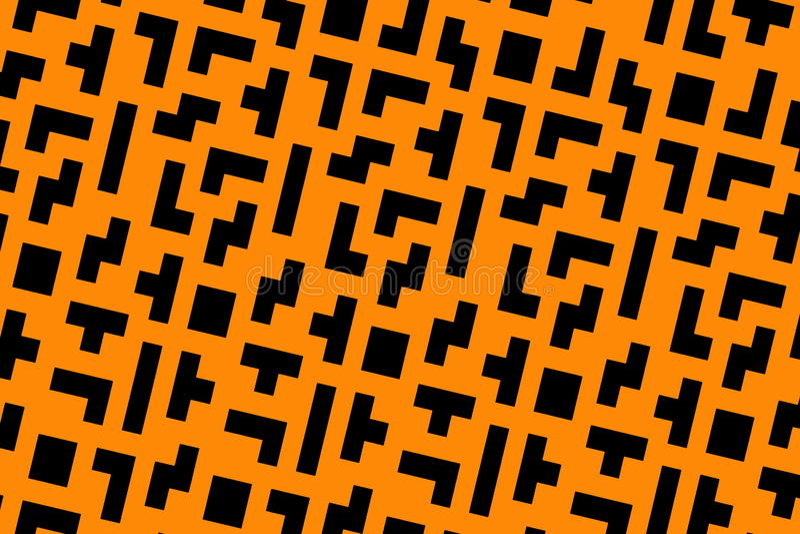 pomarańczowi tetris zdjęcie stock