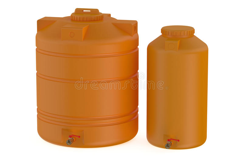 Pomarańczowi zbiorniki wodni ilustracja wektor