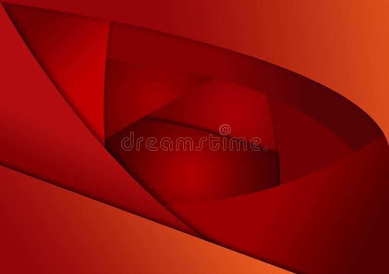 Pomarańczowoczerwonego koloru warstwy tła różny projekt ilustracji