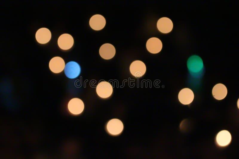 Pomarańczowy światło, okrąg i jasnożółty, obrazy stock