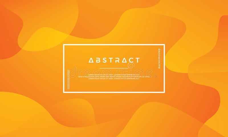 Pomarańczowy abstrakcjonistyczny tło jest stosowny dla sieci, chodnikowa, pokrywy, broszurki, sieć sztandaru i inny, ilustracja wektor
