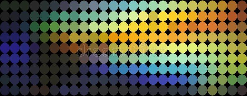Pomarańczowy błękitny żółty gradient kropkuje abstrakta wzór Mozaiki holograficzny tło royalty ilustracja