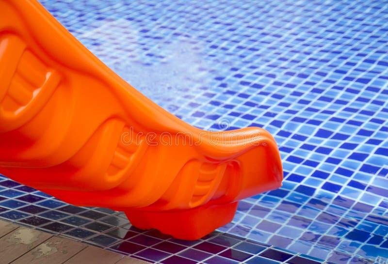 Pomarańczowy basenu suwak zdjęcia royalty free