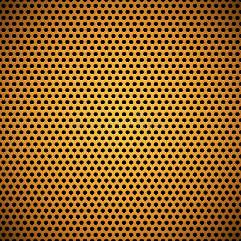 Pomarańczowy Bezszwowy okrąg Dziurkująca grill tekstura ilustracja wektor