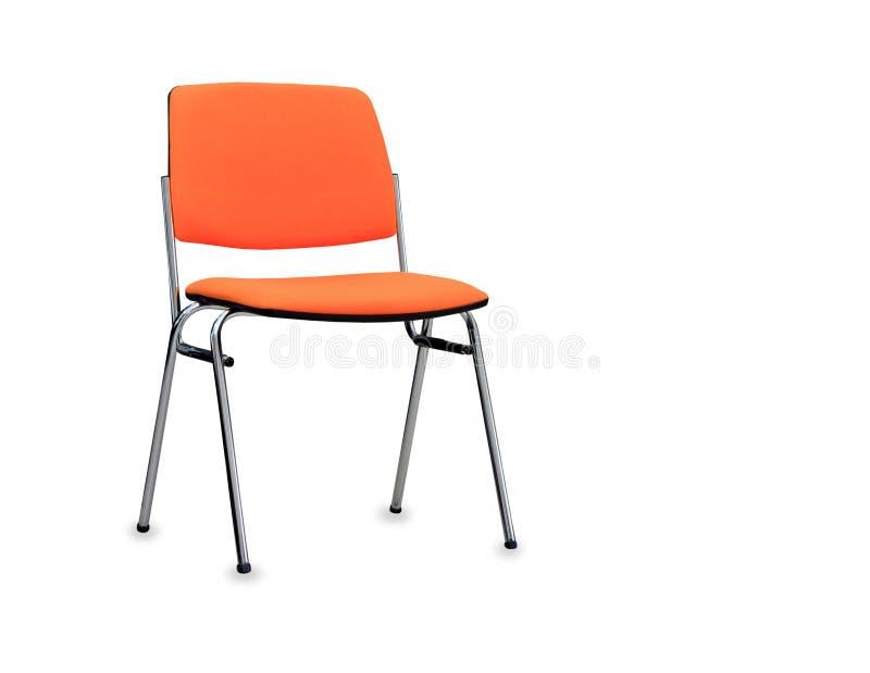 Pomarańczowy biurowy krzesło odosobniony zdjęcia royalty free