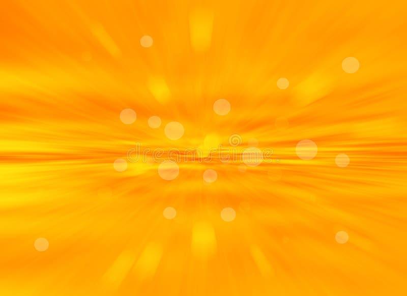 Pomarańczowy bokeh abstrakta światła background.blur tło. royalty ilustracja