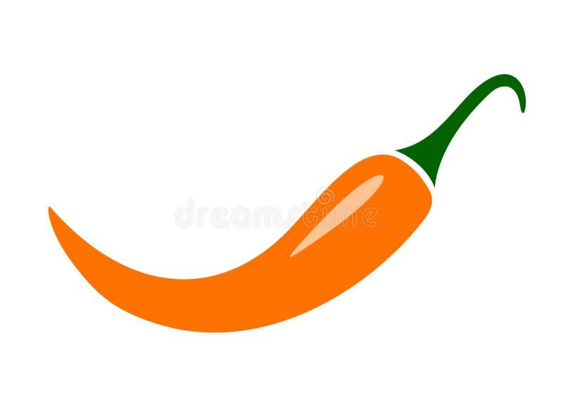 Pomarańczowy chili wektoru pieprz ilustracja wektor