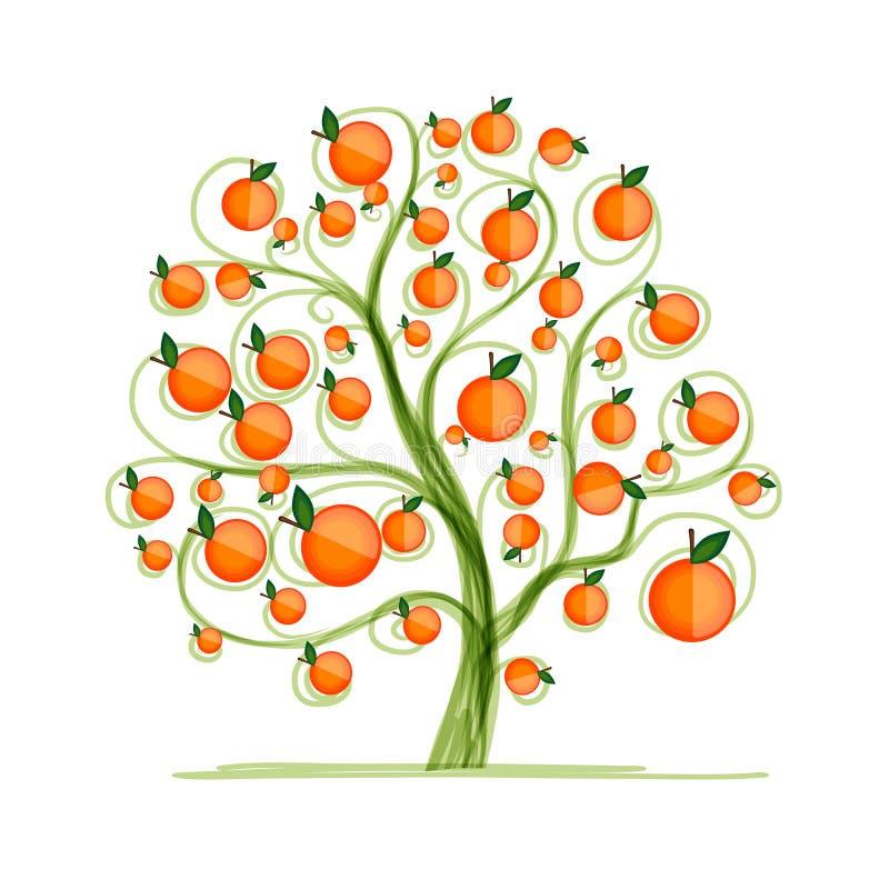Pomarańczowy drzewo dla twój projekta ilustracji
