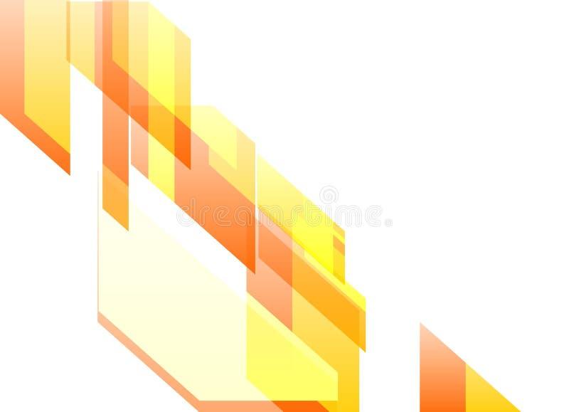 Pomarańczowy Dynamiczny abstrakt w Białym tle obraz royalty free