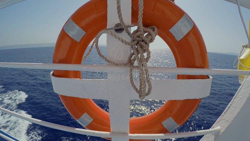 Pomarańczowy Ferryboat Lifebelt zdjęcia royalty free