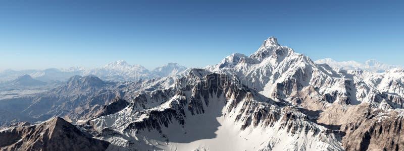 pomarańczowy górski filtra panorama niebios ilustracji