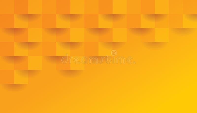 Pomarańczowy geometryczny wzór, abstrakcjonistyczny tło szablon ilustracji