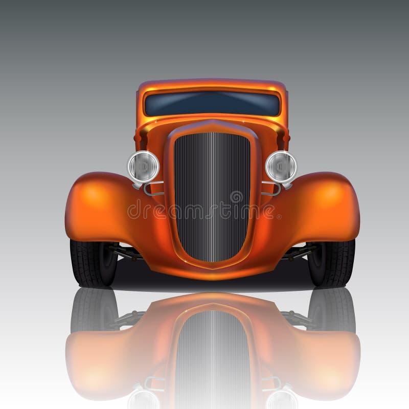 Pomarańczowy Gorący Rod ilustracji