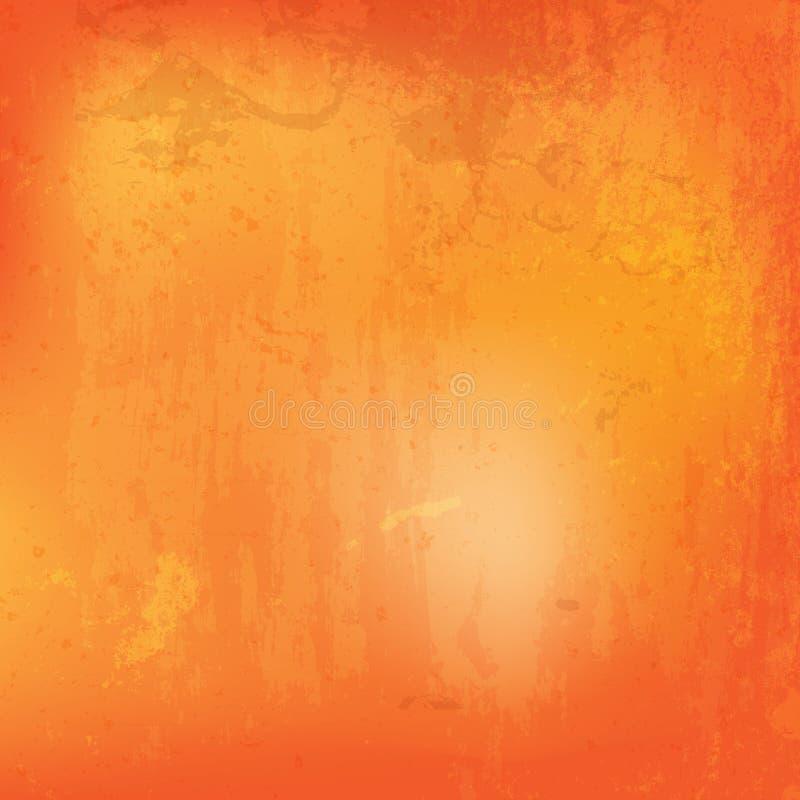 Pomarańczowy grunge tło z splats royalty ilustracja