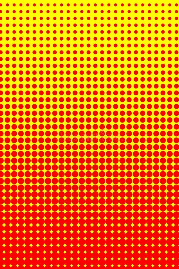 pomarańczowy halftone kolor żółty ilustracji