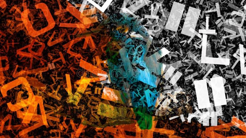 Pomarańczowy i Czarny Przypadkowy list tekstury tła wizerunku graficznej sztuki projekta Piękny elegancki Ilustracyjny tło ilustracja wektor