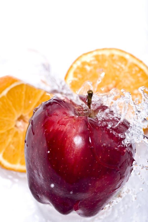 pomarańczowy jabłkowy ' last splash ' fotografia stock