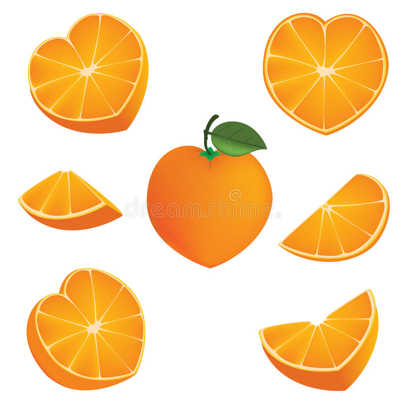 Pomarańczowy kierowy kształt royalty ilustracja