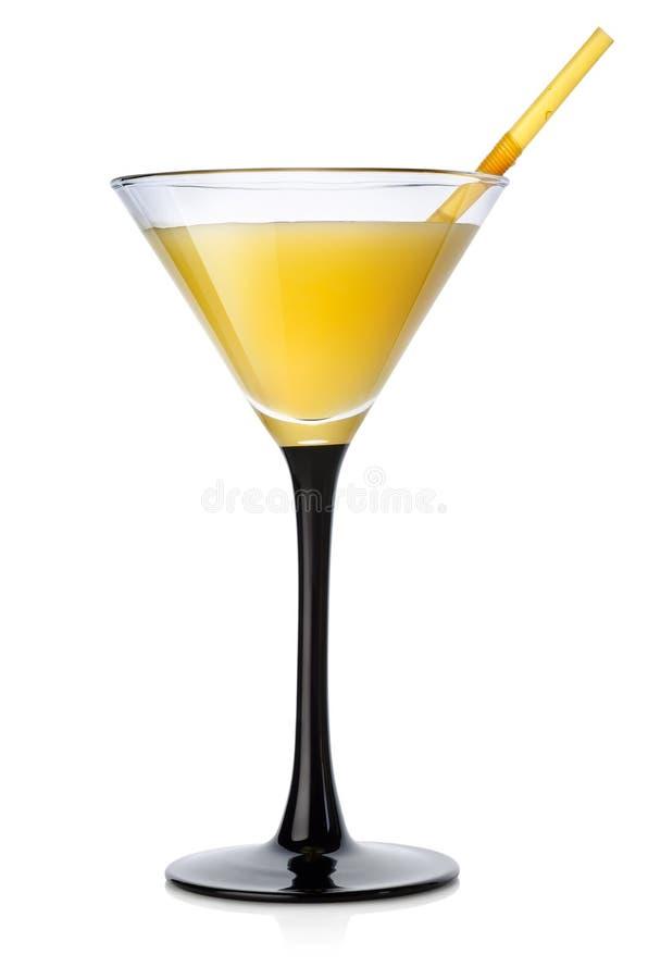 Pomarańczowy koktajl w wysokim szkle obrazy stock