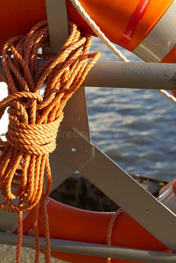 Pomarańczowy lifebuoy w schronieniu obrazy royalty free