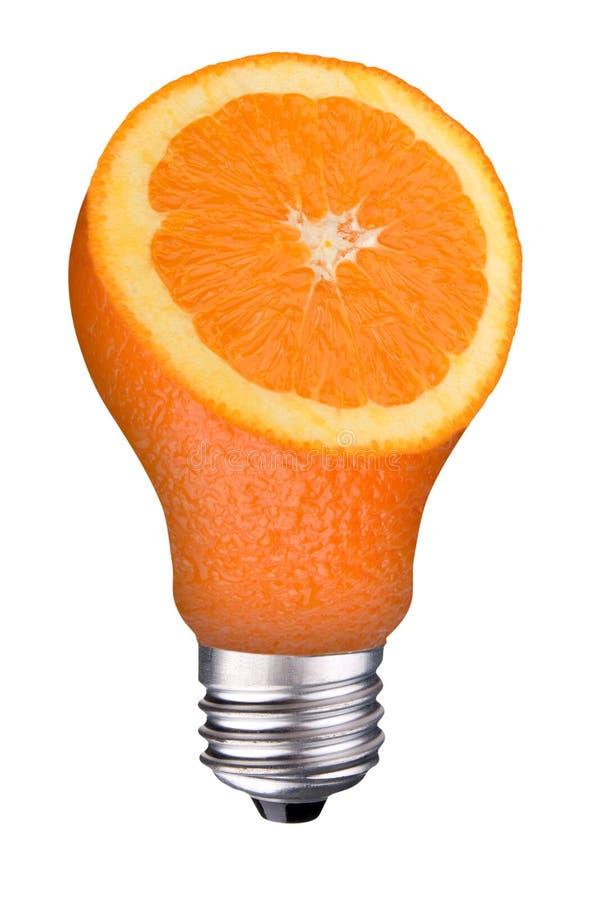 pomarańczowy lightbulb plasterek zdjęcia royalty free