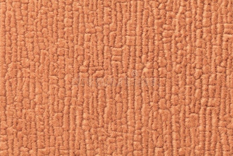 Pomarańczowy luffy tło miękka część, wełnisty płótno Tekstura tekstylny zbliżenie zdjęcia royalty free
