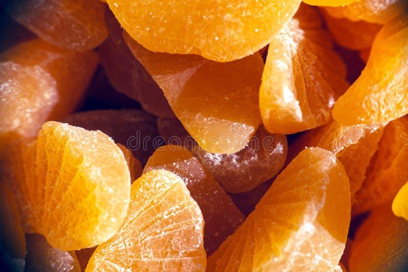 Pomarańczowy marmoladowy cukierek Cytrus owocowej galarety cukierki zdjęcia royalty free