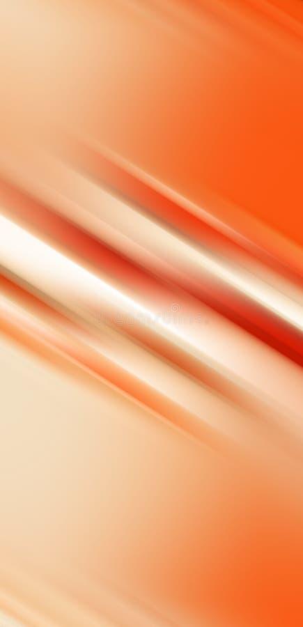 Pomarańczowy miękki abstrakcjonistyczny tło, kolorowe geometrie royalty ilustracja