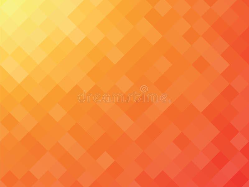 Pomarańczowy mozaiki tło royalty ilustracja