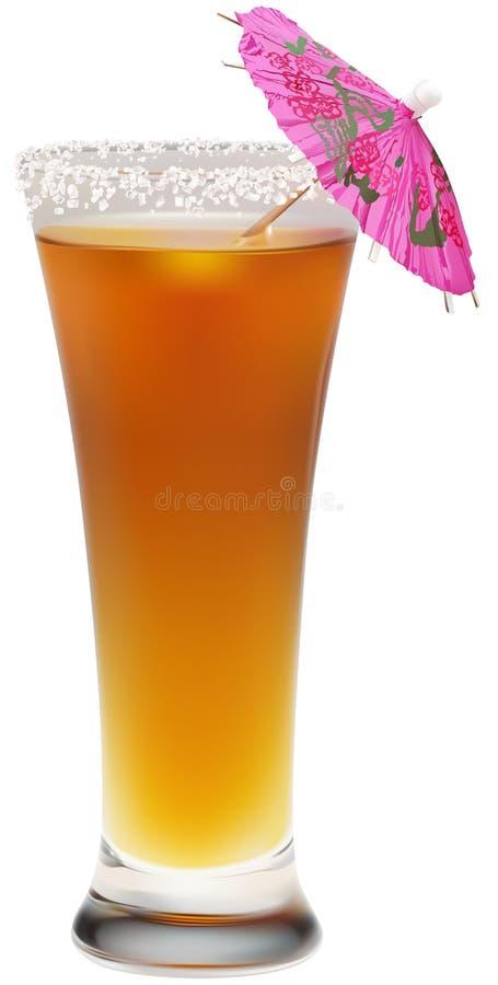 pomarańczowy napój słońce ilustracja wektor