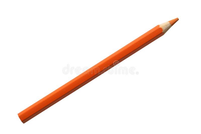 Pomarańczowy ołówek fotografia stock