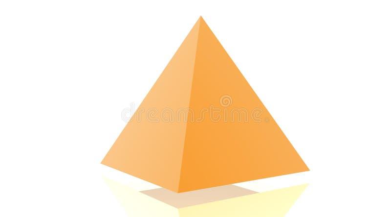 pomarańczowy ostrosłup royalty ilustracja