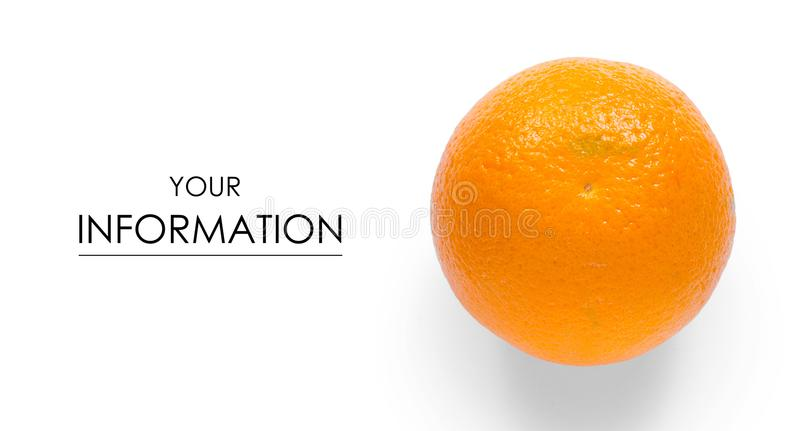 Pomarańczowy owocowy cytrusa wzór obrazy stock