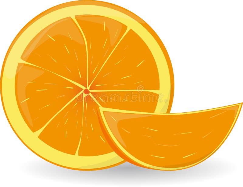 pomarańczowy plasterek royalty ilustracja