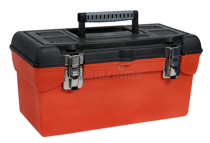 pomarańczowy plastikowy toolbox fotografia royalty free