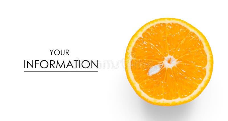 Pomarańczowy przyrodni owocowy cytrusa wzór zdjęcie royalty free