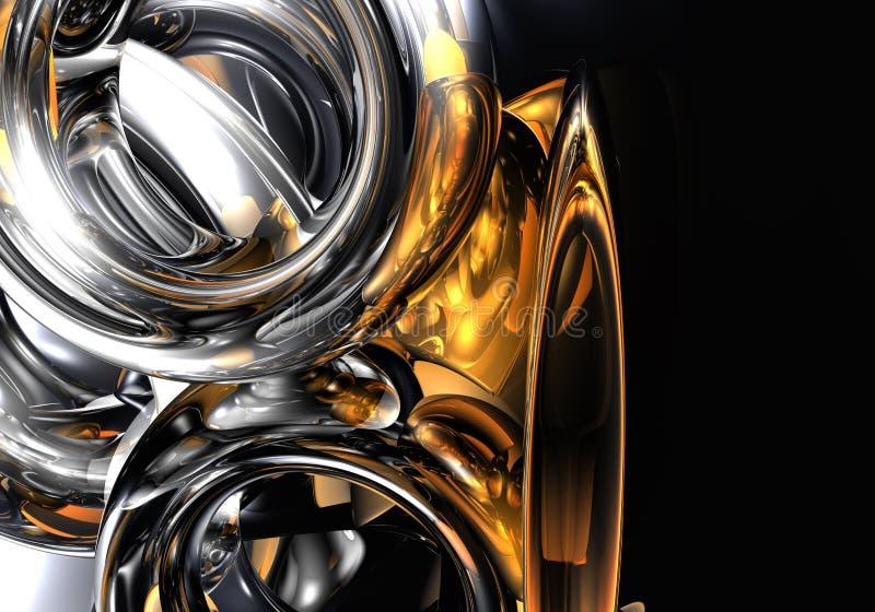 pomarańczowy ringu srebra royalty ilustracja