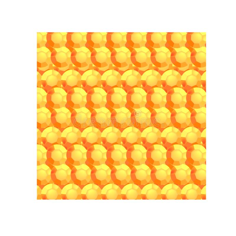 Pomarańczowy round faceted kamienie royalty ilustracja