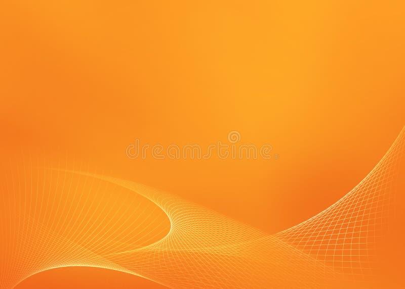 Pomarańczowy Rozjarzony tło ilustracja wektor
