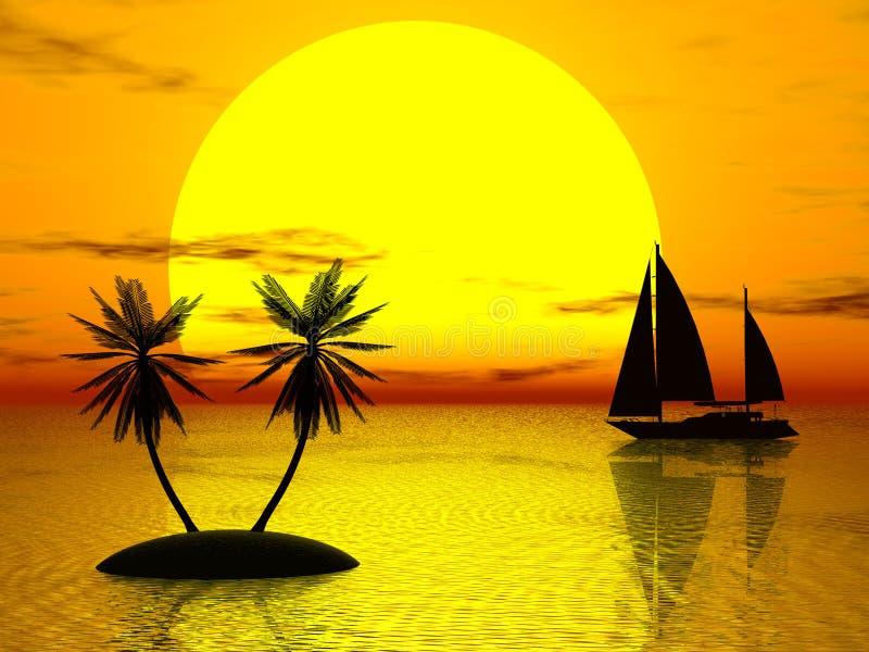 pomarańczowy słońca ilustracji