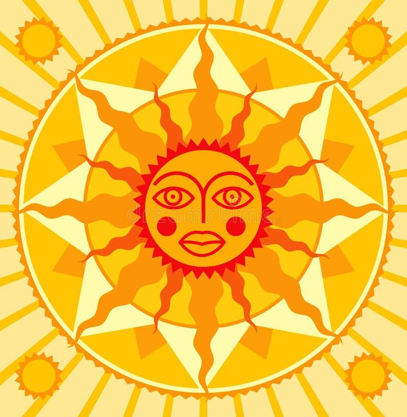 pomarańczowy słońce royalty ilustracja