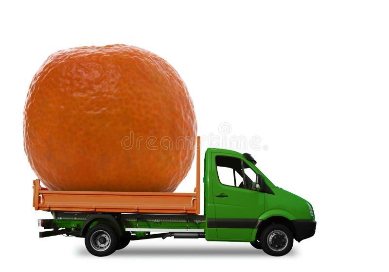 pomarańczowy samochód dostawczy obrazy royalty free