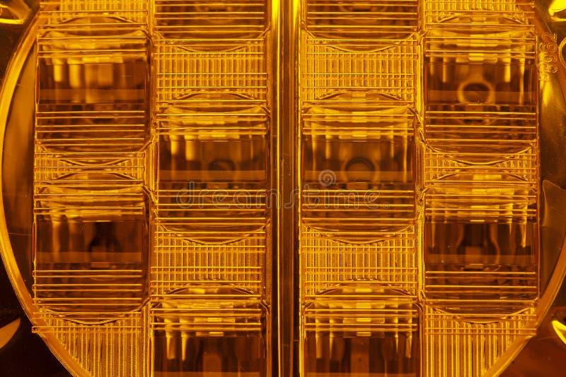 Pomarańczowy samochodowy reflektor obrazy stock