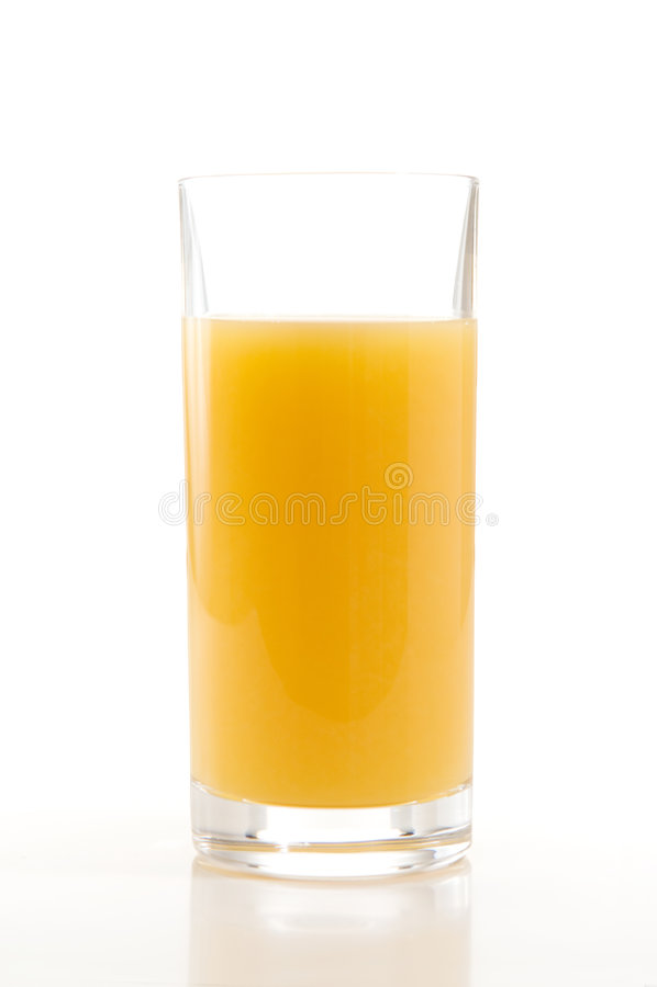 pomarańczowy soku biel zdjęcia stock