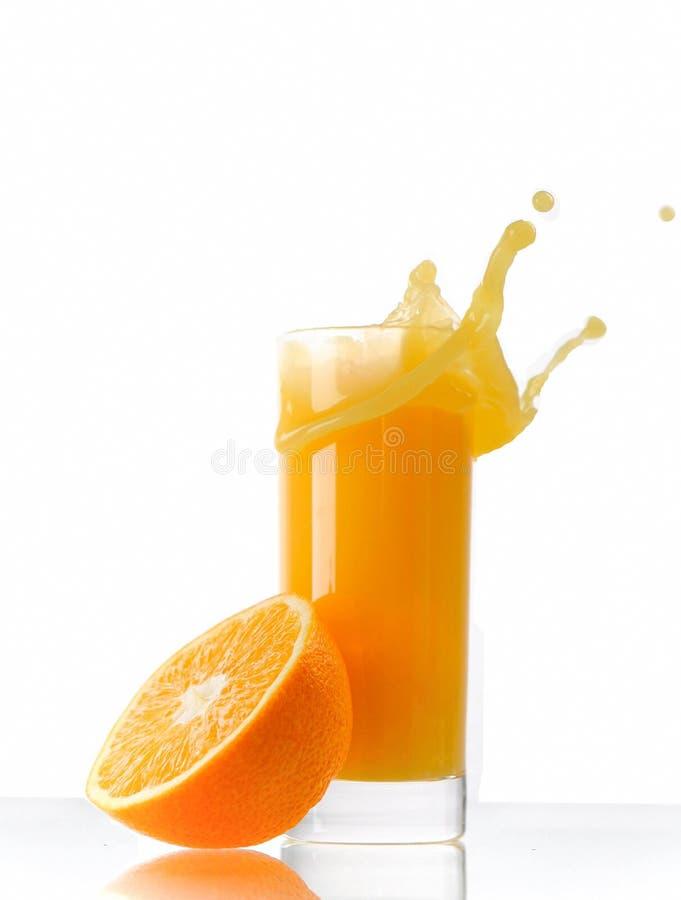 pomarańczowy soku pluśnięcie zdjęcie stock