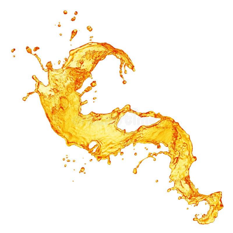 pomarańczowy soku pluśnięcie obrazy stock